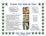 1944 Year In History Personalized Birthday Print