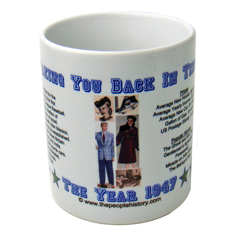 1947 Year In History Coffee Mug