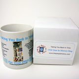 1950 Blue Year In History Coffee Mug with Gift Box