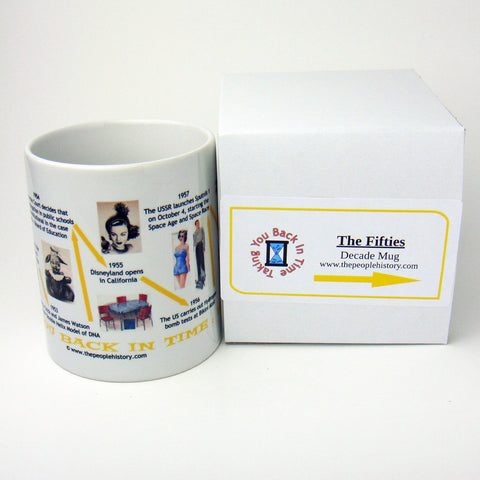 Fifties Decade In History Coffee Mug