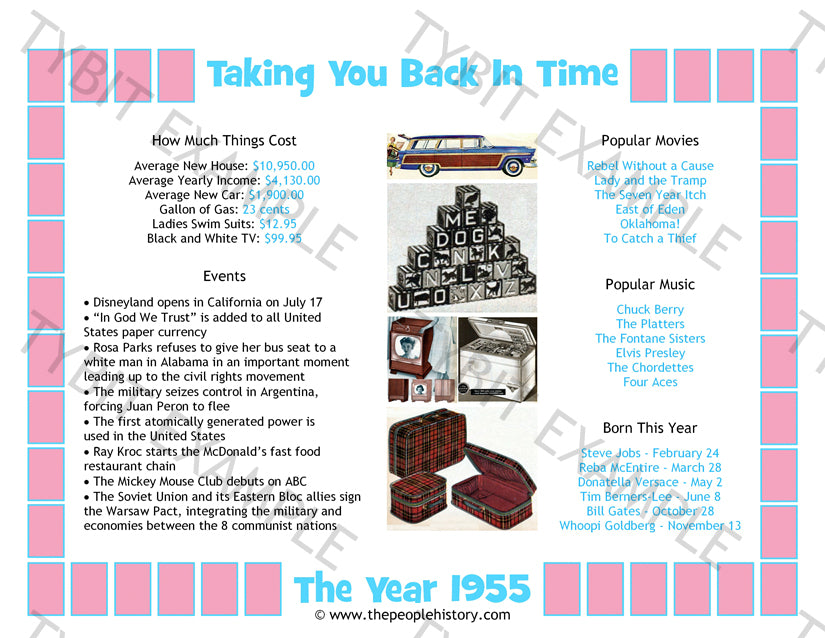 1955 Year In History Print News Events Prices Movies