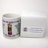 1964 Year In History Coffee Mug with Gift Box