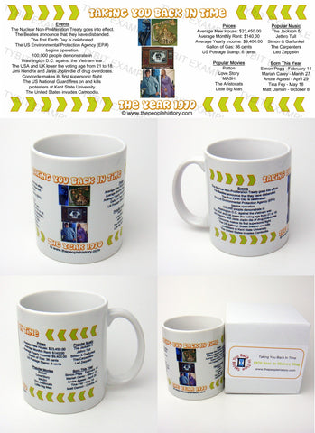 1970 Year In History Coffee Mug with Gift Box