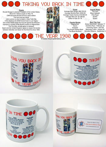 1980 Year In History Coffee Mug with Gift Box