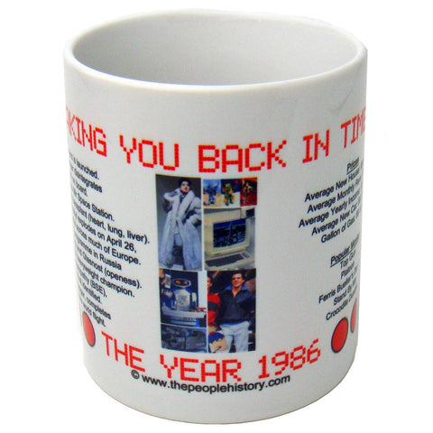 1986 Year In History Coffee Mug