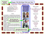 2006 Year In History Personalized Party Favor Birthday Print