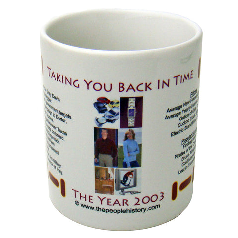 2003 Year In History Coffee Mug
