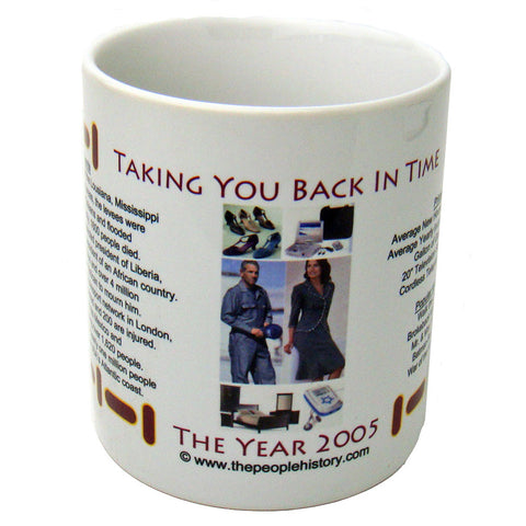 2005 Year In History Coffee Mug