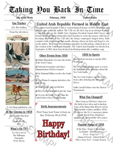 photo regarding Free Printable Birthday Newspaper titled Customized Birthday Newspaper Layout Entrance webpage