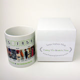 1960's Fashion Mug featuring examples of fashion clothing and prices