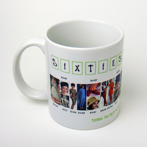 1960's Fashion History Coffee Mug