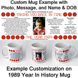 Personalized Year In History Mug Gift
