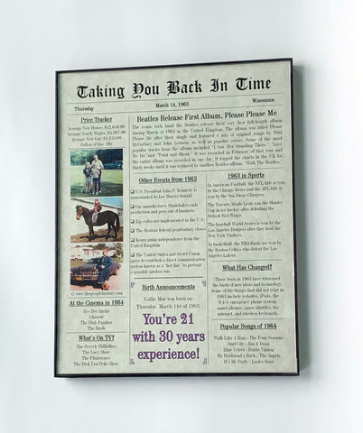 Personalized Birthday Newspaper Style Front page