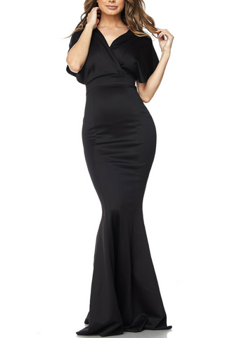 Bee Daring Solid Maxi Gown