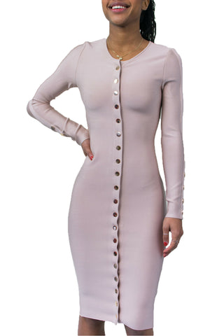 Bee Daring Front Buttons Dress