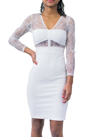Bee Daring White Lace Dress