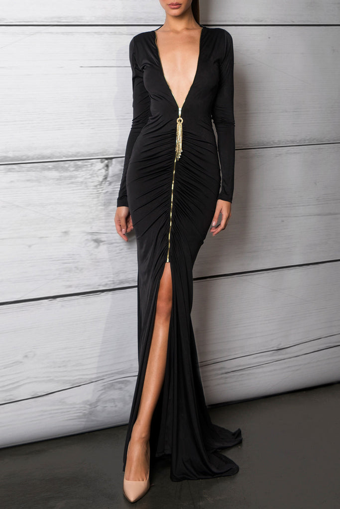 Savee Couture Sequin Back Dress