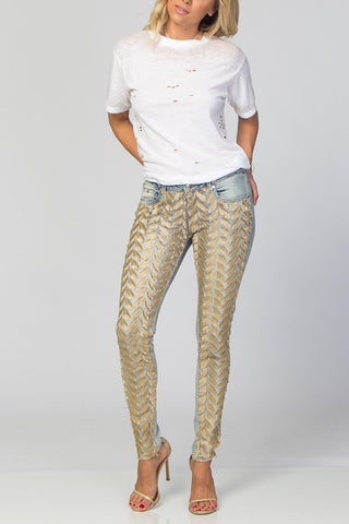Sparkle Denim The Gold Leaf