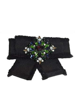 Inzi Black Brooch