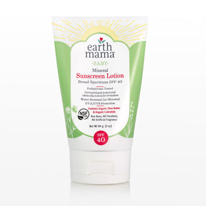 Earth Mama Organics Baby Mineral Sunscreen SPF 40