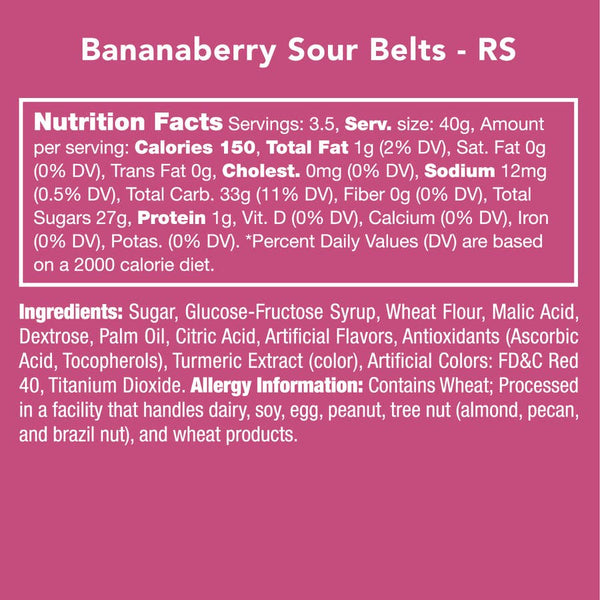 Candy Club Bananaberry Sour Belts