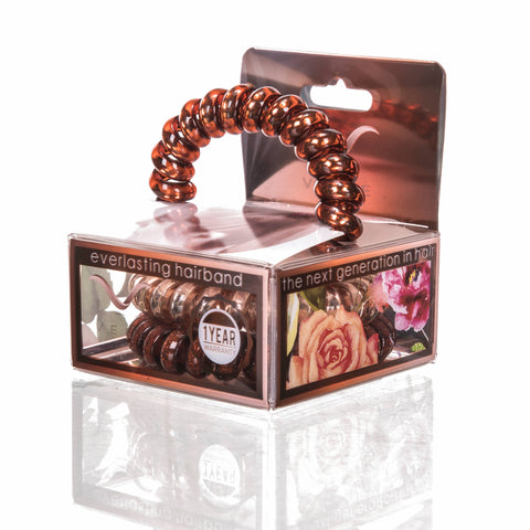 Vere - Copper Glow Hair Tie & Bracelet Set