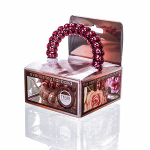 Vere - Ruby Garnet Hair Tie & Bracelet Set