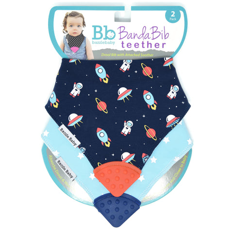 Bazzle Baby - Banda Bib Teether 2-Pack