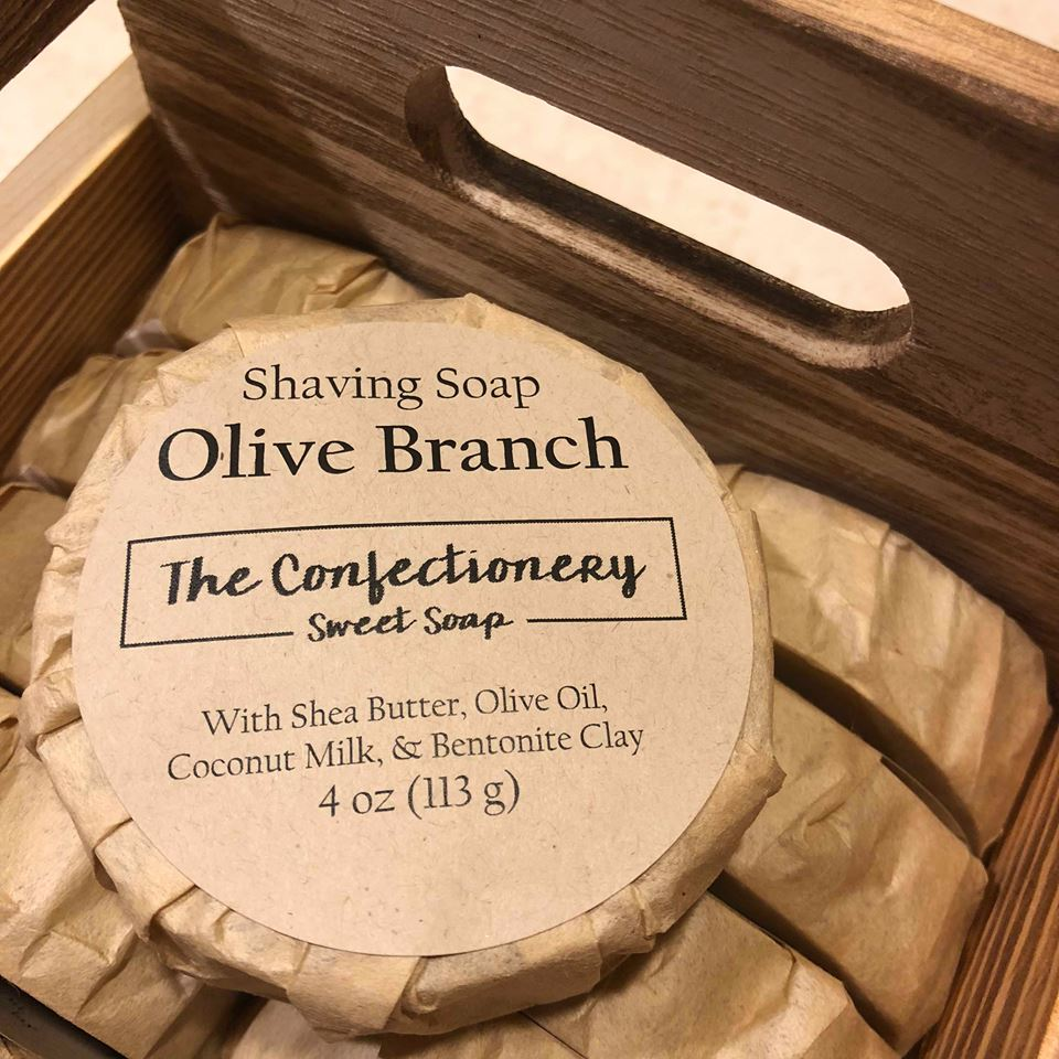 The Confectionery Shaving Soap- Olive Branch