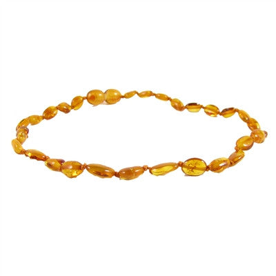 honey bean amber necklace