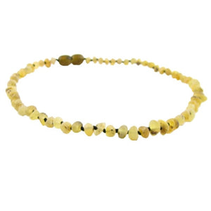 raw pear amber necklace