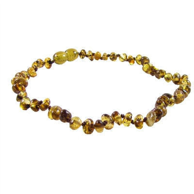 pear amber necklace