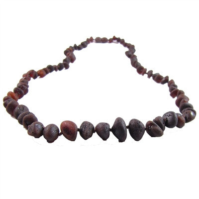 Raw Chestnut Amber Necklace