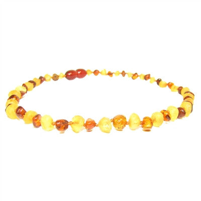 raw lemon/polished cognac necklace