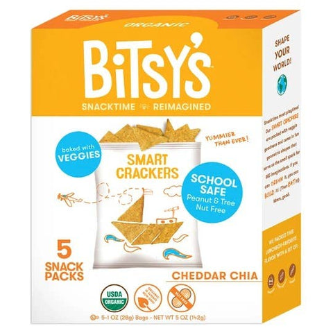 Bitsy's Cheddar Chia Smart Crackers