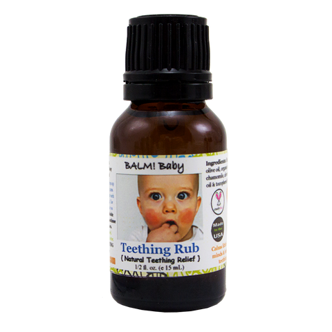 BALM! Baby Teething Rub Natural Herbal Topical Rub
