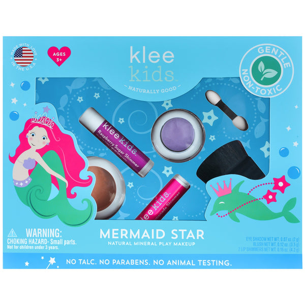 Klee Naturals Mermaid Star Natural Play Makeup 4-PC Kit