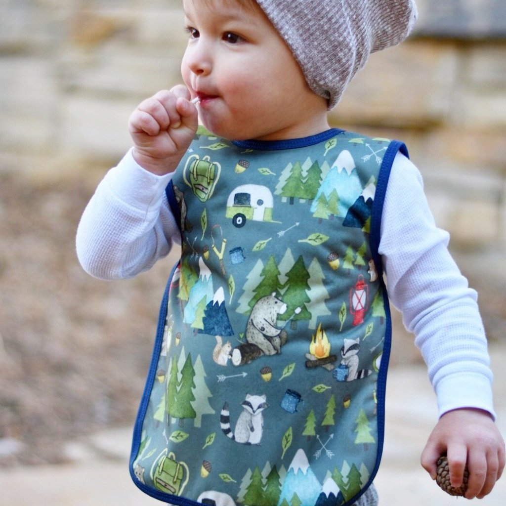 0f6184053ed BapronBaby - Camping Bears Bapron – Water Lilies Boutique- For Baby and Mom