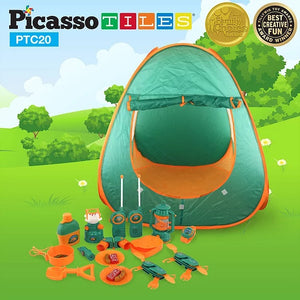 PicassoTiles  20 Piece Camp Set