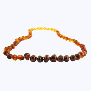 rainbow amber necklace