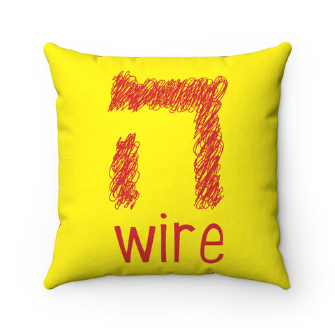 Haywire Square Pillow