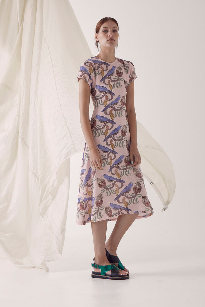 Janis Summer Dress - Bird & Banksia, Pink