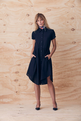 Rolling Capped Shirt dress