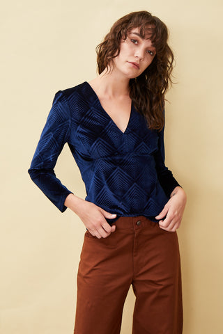 Date Night Velvet Top