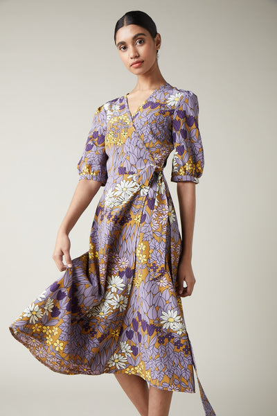 Wild Flower Wrap dress
