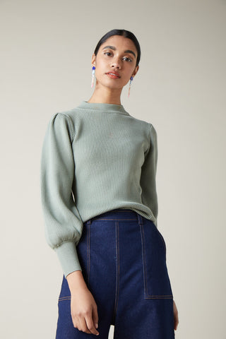 Ribbed Bell Sleeve Knit
