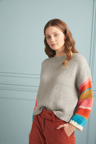 Rainbow Sleeve Knit