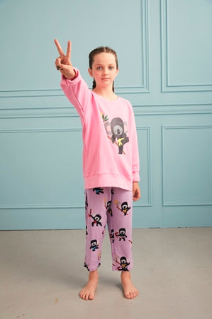 Kids Koala Jumper - Pink