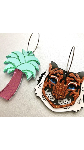 Tiger Palm Earrings