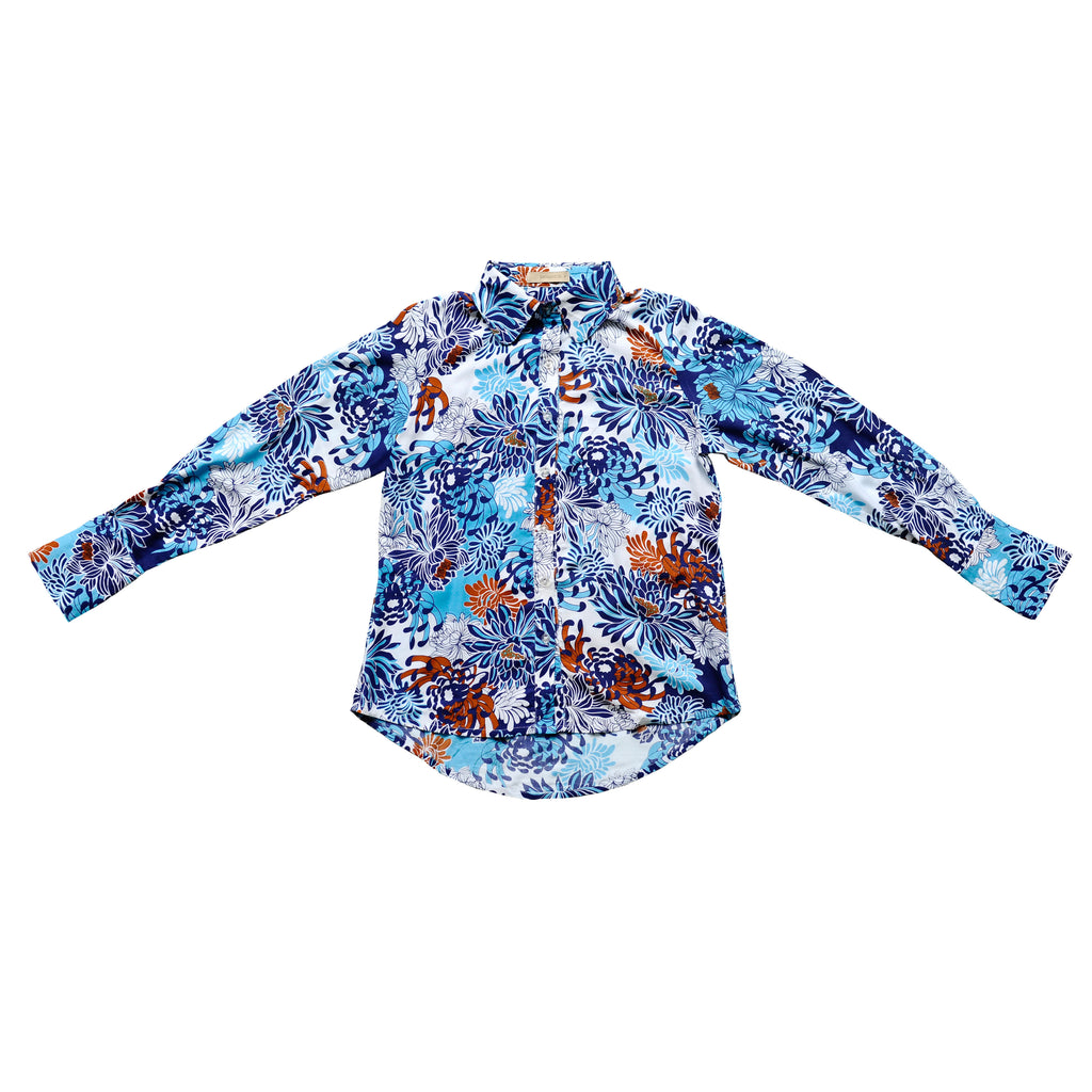 Retro Floral Jerry Hall Shirt